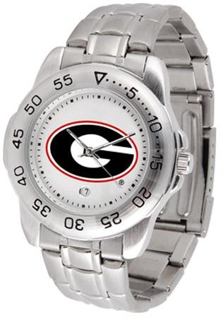 - SunTime Georgia Bulldogs Sport Steel Band Men's Watch