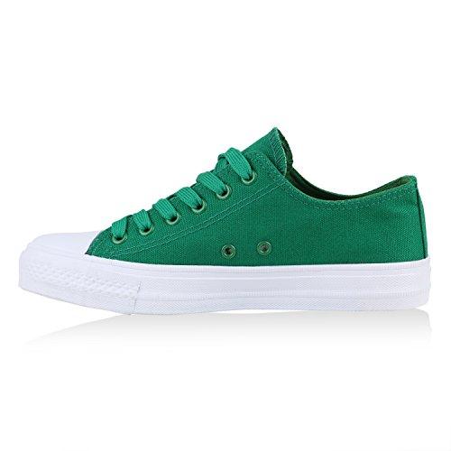 Grün Sneaker Flandell Weiss Low Unisex Damen Weiss Übergrößen Stiefelparadies Herren wCaqP0tx
