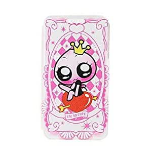 LCJ Kinston Love Little Princess Pattern PU Leather Full Body Case with Stand for iPhone 5/5S