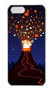Christmas Volcano PC Transparent fashion iphone 5S case for Apple iPhone 5/5S