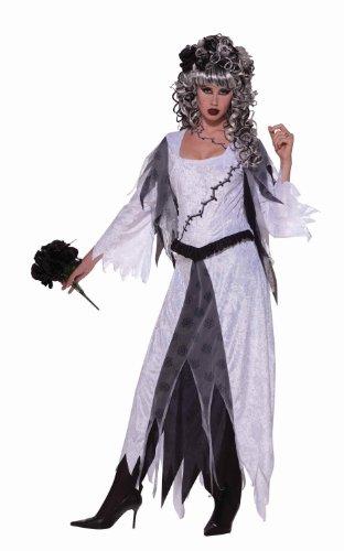 [Forum Novelties Women's Monster Bride Deluxe Costume Dress, Grey, Standard] (Frankensteins Bride Costume)