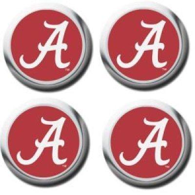 (Alabama Crimson Tide Domed Valve Stem Caps)