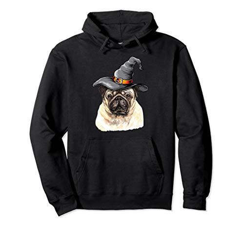 Pug Dog Halloween Costume Ideas Funny Happy Halloweenie Gift Pullover Hoodie -