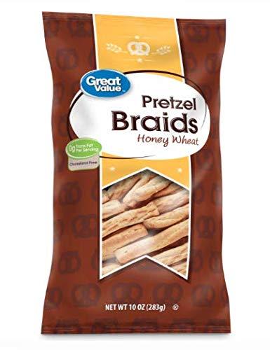 Pretzel Braids Honey Wheat 10 oz (2 pack) 0 Trans Fat. Cholesterol Free - Honey Wheat Braid Pretzel