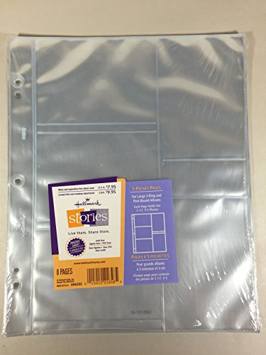 (Hallmark AR6502 5-pocket Pages for Large 3-ring and Post-bound Albums)