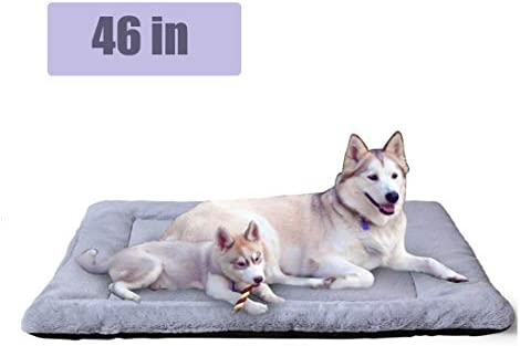 PETSGO Pet Crate Beds Supersoft Dog and Cat Beds for Crates Machine Wash Dryer Friendly Anti Slip Pet Beds for Pets Sleeping