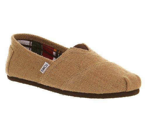 TOMS - Zapatillas para hombre Blanco Burlap Beige 41.5