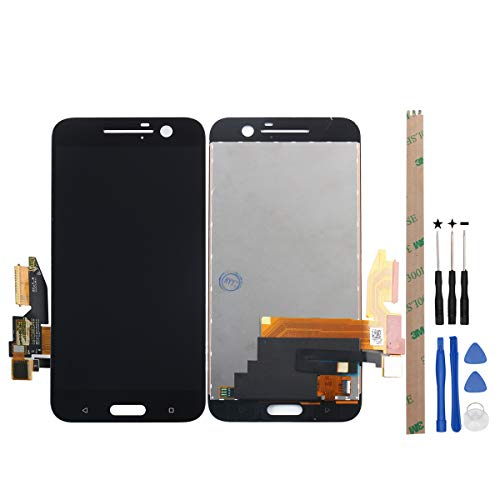 HYYT Replacement for HTC 10 One M10 M10H LCD Display Touch Screen Digitizer Assembly + A Set of Tools(Black) ()