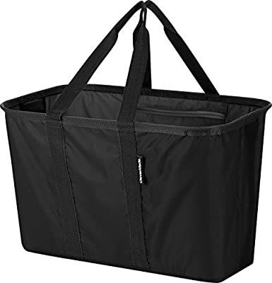 CleverMade SnapBasket Collapsible Shopping Tote with 30 L Soft Sided Bag