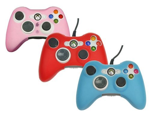 3in1 Combo (Pink Red Blue) Silicone Protector Skin Case Cover for Xbox 360 Game Controller (Pink Xbox 360 Controller Cover compare prices)
