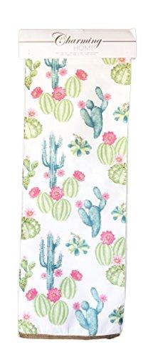Table Desert Cactus (Charming Home Flowering Desert Cacti Table Runner 13