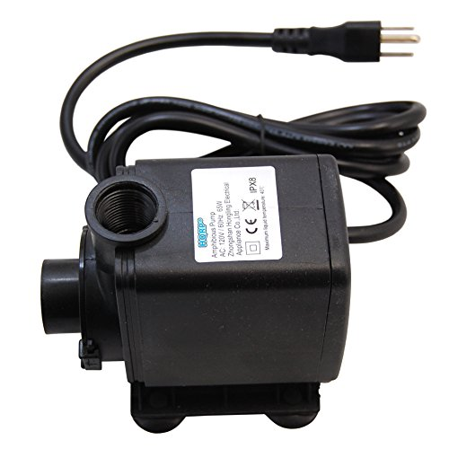 (HQRP High Power 3500L/H 925GPH 65W Submersible Water Pump for Aquarium / Fountains / Pond / Statuary / Tanks / Spout and Hydroponic Systems plus HQRP UV Meter)