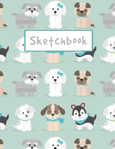 Sketchbook: Cute Little Puppies Sketchbook, 8.5