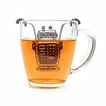 GOOTRADES Robot Hanging Tea Leaf Infuser Steel Strainer Herbal Spice Filter