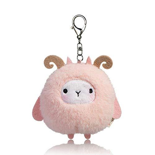 Halloluck Plush Sheep Keychain Stuffed Animal Doll Ornaments Pendant Sheep Car Handbag Keyring, 4