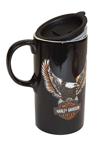 Harley-Davidson Travel Latte Mug, Bar & Shield Eagle Tall Boy, 21 oz. 3TBT4907 -