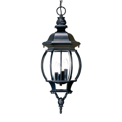 Collection Black Outdoor Hanging Lantern - 9