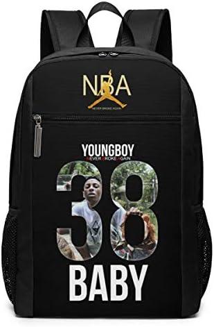 ShenG TianAo NBA Young-boy Theme Fashion Men's and Women's Classic Shoulder Backpack 17 Inch
