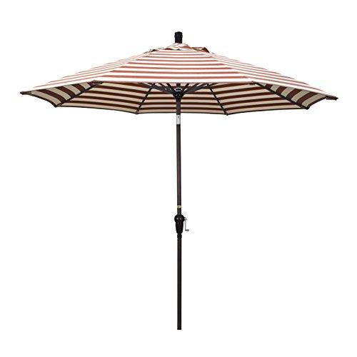 California Umbrella SDAU908117-F93 Sunset Series Patio Umbrella, Red White
