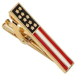 Amazon.com: BodyJ4You Tie Clip Pinch Bar Goldtone American