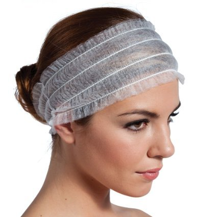 Huini 100 Pcs Disposable Spa Non-woven Headbands, 100 Count - Essential Headbands Spa