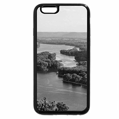 iPhone 6S Case, iPhone 6 Case (Black & White) - mississippi river
