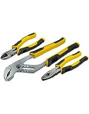 STANLEY STHT0-74471 - Juego de Alicates Control Grip, incluye alicate universal, corte diagonal y cremallera