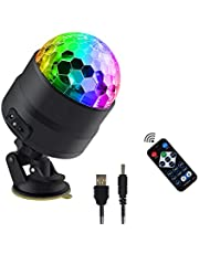 Upgrade Full Colours Disco Ball Light dj Light Show Light RGBW led Mini Party Light Christmas Decoration Light Gift Light Magic Light Sound Activated Automatic Strobe Lights with Remote