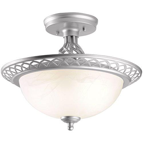 Brinks 7334-619 Hampton Birdcage Flushmout Indoor Lighting, 13-Inch, Satin Nickel