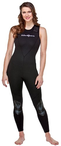 NeoSport Wetsuits Women's Premium Neoprene 7mm Jane,All Black, 6 - Diving, Snorkeling & Wakeboarding