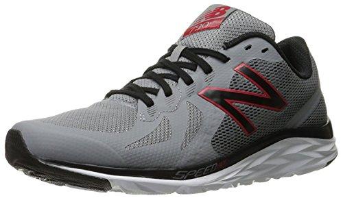 New Balance Mens 790v6 Speed Ride Running Shoe, Steel/Crimson, 41.5 EU/7.5 UK