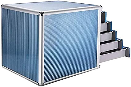 Color : Blue File Cabinets File Cabinets Portable Tidy Storage Box-Aluminum Alloy Material Drawer File Cabinet Box Lockable Office Supplies Landslide Track Aluminum Alloy File Cabinet