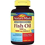 Cheap Nature Made Ultra Omega-3 Burpless Fish Oil 1400 mg Softgels w. Omega 3 1000 mg 130 Ct
