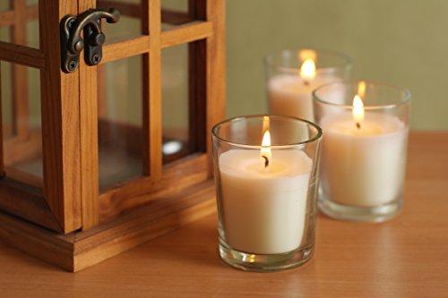 HOSLEYS-Set-of-48-Unscented-Glass-Filled-Votive-Candles-12-Hour-Burn-Time