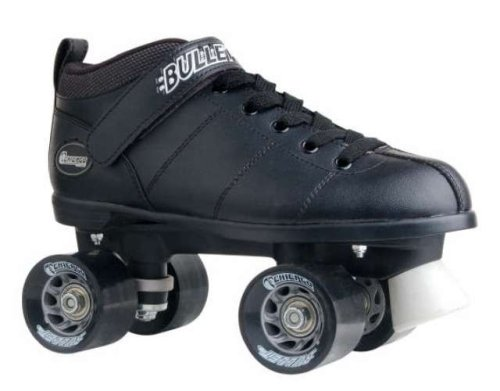Racing Cut Outs (Chicago Bullet Men's Speed Roller Skate -Black Size 10)