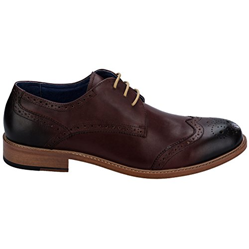 Remus Mens Stefano Läder Derby Brogues Uk 11 Röda