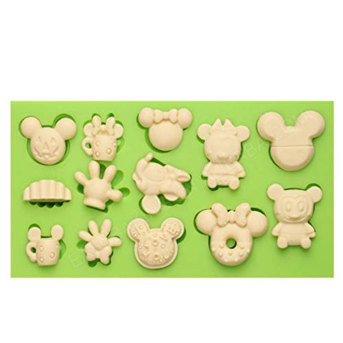 Cute Monkey Funny DIY 3D Mickey Mouse Themed Silicone Mold Making Ice Blocks Candy Fondant Chocolates Soap Cake Mousse Jelly Baking Tools -