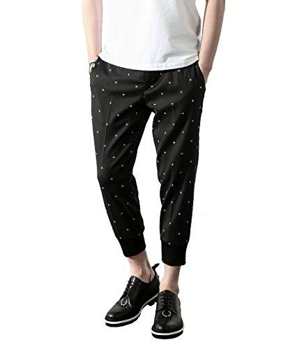 wiberlux-neil-barrett-mens-mini-cross-print-jogger-pants-44-black