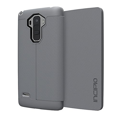 LG G Stylo Case, Incipio [Fabric Folio] Lancaster Case for LG G Stylo-Gray
