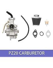 PZ20 Carburetor with Air Filter Gaskets for Kazuma Baja 50cc 70cc 90cc 110cc 125cc TaoTao 110B NST SunL Chinese Quad 4 Stroke ATV 4 Wheeler Go Kart Dirt Bike Honda CRF50F XL75 CRF80F XR50R