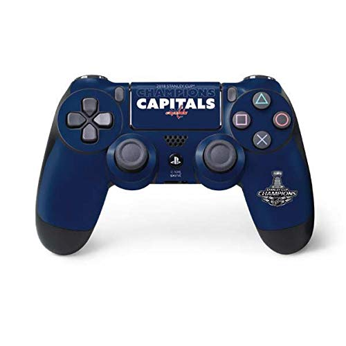 (Skinit 2018 Stanley Cup Champions Capitals PS4 Controller Skin - Officially Licensed NHL Gaming Decal - Ultra Thin, Lightweight Vinyl Decal Protection)