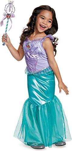 Ariel Deluxe Disney Princess The Little Mermaid Costume, Small/4-6X
