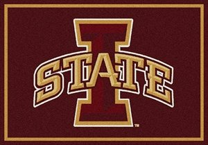 Milliken Ncaa College Spirit Area Rug Iowa State Cyclones 74200 5' 4