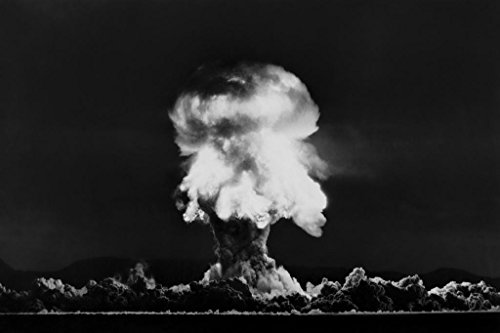 Nuclear Bomb Explosion Nevada Test July 1957 Photo Art Print Mural Giant Poster 54x36 inch