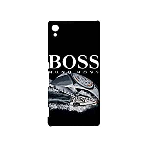 Sony Xpenia Z5 Premium Durable 3d Cover Shell,Luxury Hugo Boss Mark Phone Case Uesful Beautiful Luxury Pattern Cover Snap on Sony Xpenia Z5 Premium
