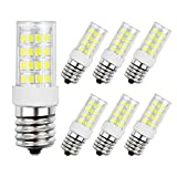 DiCUNO E17 LED Bulb, Appliance Bulbs, Microwave Oven, Stovetop Light, 4W 400lm, Daylight White 6000k, 40w Equivalent Replacement Incandescent Bulb, 6-Pack.