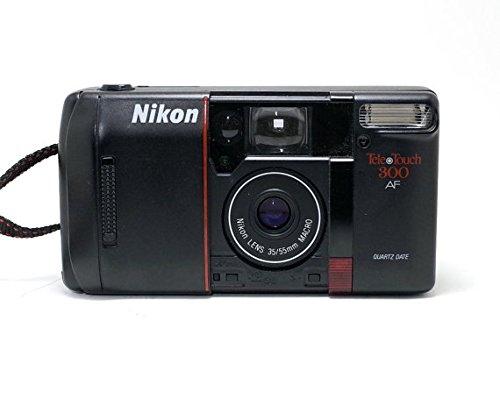 Nikon Tele-Touch 300 AF Autofocus 35mm Film Camera w/Nikon Lens 35/55mm Macro Camera (Black Color)