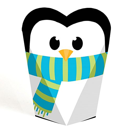 (Holly Jolly Penguin - Holiday and Christmas Party Favors - Gift Favor Boxes for Women and Kids - Set of 12)