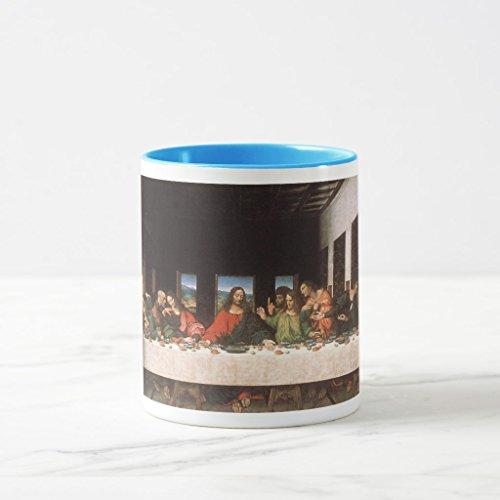 Zazzle Last Supper-leonardo Da Vinci Coffee Mug, Light Blue Combo Mug 11 oz - Da Vinci 11 Light