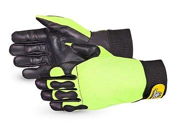 Superior Glove Endura Hi-Viz Cut-Resistant Chainsaw Gloves 385CS/M